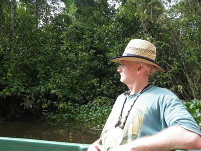 Barry Clark on the Kinabatangab River, Sabah