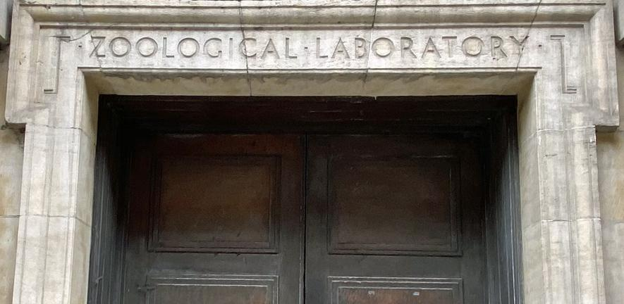Zoological Laboratory entrance on Downing Street