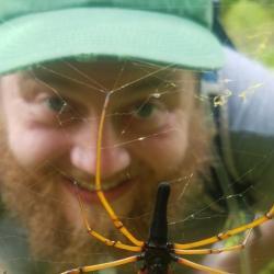 Patrick Brechka with Nephila Spider
