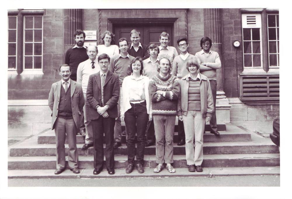 Group of Academics in 1984, members of the Godwin Lab