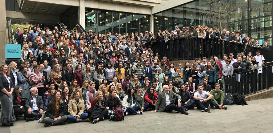 International student conference participants and Sir David Attenborough